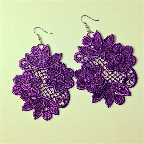 embroidery design lace free free standing lace machine embroidery design earrings