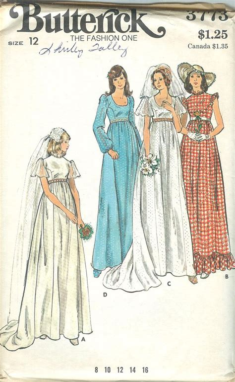 young bridesmaid dress pattern 1473 best vintage patterns 1970 s images on pinterest