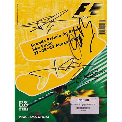 grand prix yesterday today books programme 1998 grand prix signed alex reade