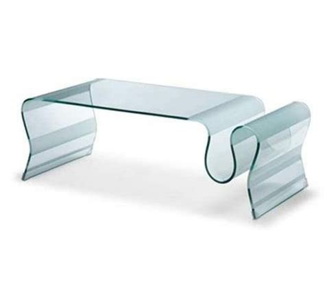 Curved Glass Coffee Table Zm Bent Glass Coffee Table Parnian Furniture