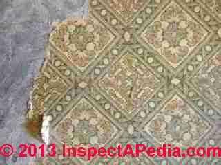Asbestos Floor Tiles, Linoleum, Sheet Flooring: Photo