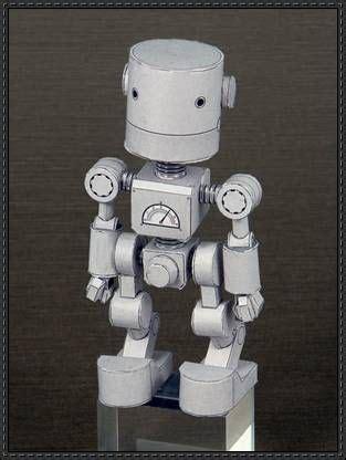 membuat robot simple shorty robot free paper craft download paper craft