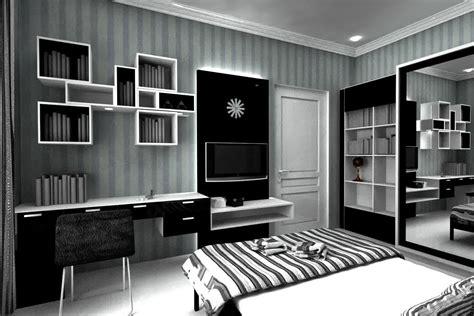 desain kamar hitam putih dekorasi warna hitam putih desain interior mewah nan elegan