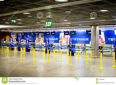 Ryanair Check In Desk by Ryanair Check In Desks Editorial Image Image 45334580