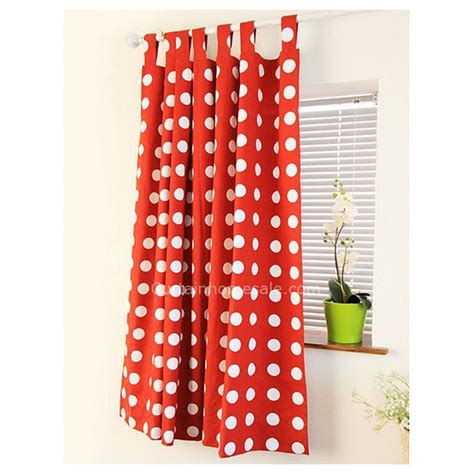 red and white polka dot shower curtain girls bedroom or living room cotton red and white polka