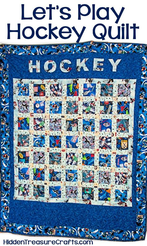 Hockey Quilt Patterns by Lets Play Hockey Quilt Treasure Crafts And Quilting
