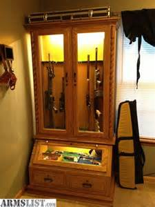 Gun Display Cabinets For Sale Armslist For Sale 8 Gun Solid Oak Cabinet With Pistol