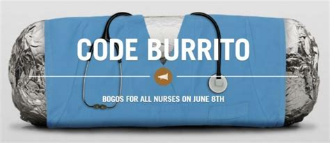 How To Use Chipotle E Gift Card - chipotle bogo burritos for nurses wednesday 6 8