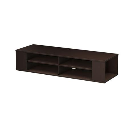 south shore city wall mounted media console in black oak south shore city wall mounted media console in