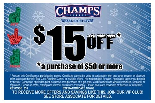 champs store coupons