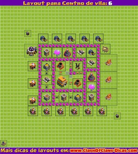 layout defesa cv 6 melhores layouts para clash of clans centro de vila n 237 vel
