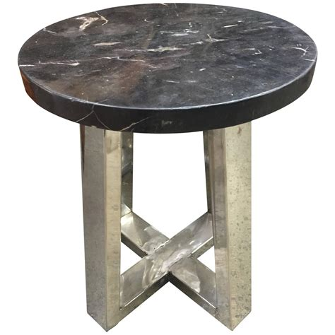 Petrified Wood Side Table Petrified Wood And Chrome Side Table For Sale At 1stdibs
