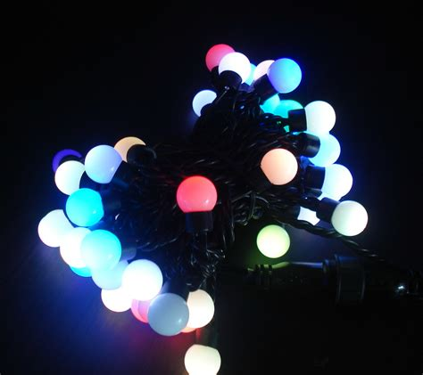 China Rgb Led String Light With Round Bulb Ip65 China Rgb Led String Lights