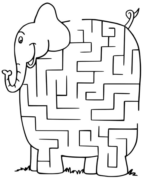 printable art mazes maze elephant clip art download