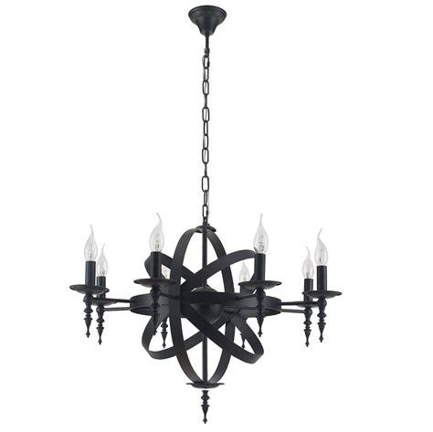 kronleuchter schwarz metall rustikaler kronleuchter cage metall schwarz wohnlicht