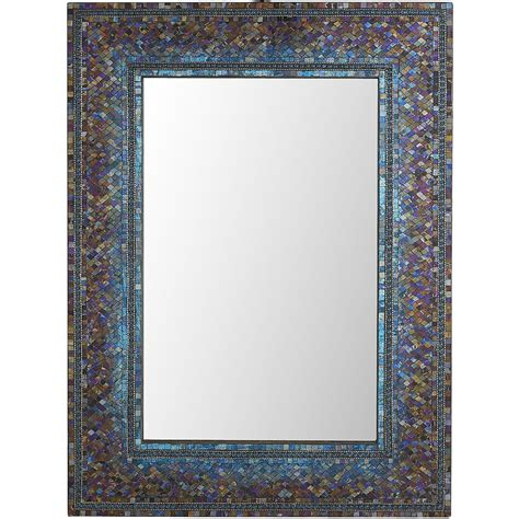 pier one bathroom mirrors midnight ombre mosaic 30x40 mirror pier 1 imports