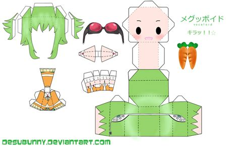 Vocaloid Papercraft - chibi gumi papercraft by tsunyandere on deviantart