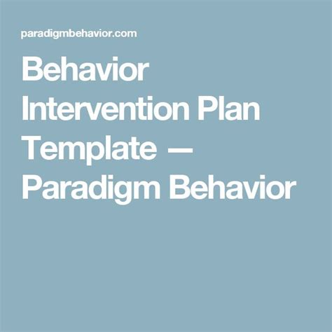 sle behavior intervention plan template 1000 ideas about behavior interventions on