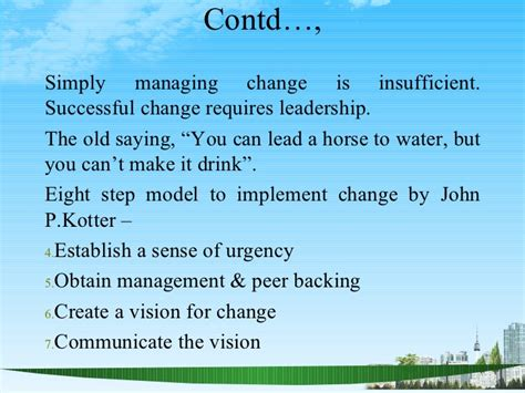 Mba In Leadership And Change Management by Change And Knowledge Management Ppt Bec Bagalkot Mba