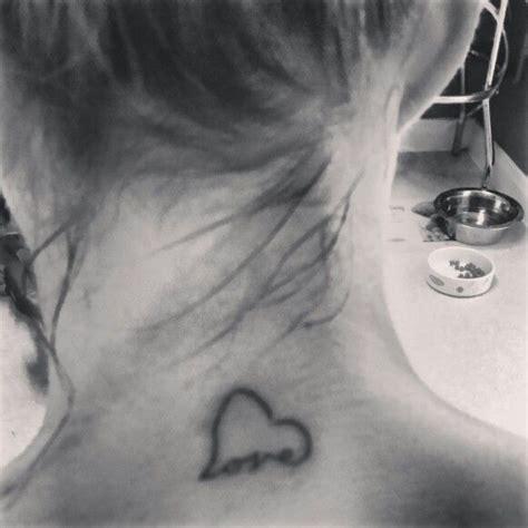 tattoo on neck we heart it tattoo on back of neck heart love firme tatts pinterest