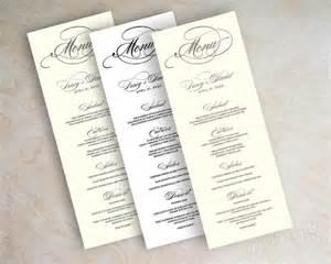 Wedding Menu Card Templates by Sle Menu Cards 29 In Psd Pdf Word