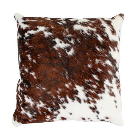 Cow Skin Cushions Buy A By Amara Speckled Cowhide Pillow 45x45cm Brown