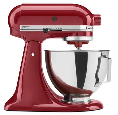 red small kitchen appliances kitchenaid 4 5 quart stand mixer with stainless steel bowl empire red appliances small