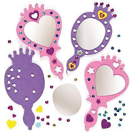 spiegel basteln mit kindern prinzessin spiegel set schaumstoff f 252 r kinder zum