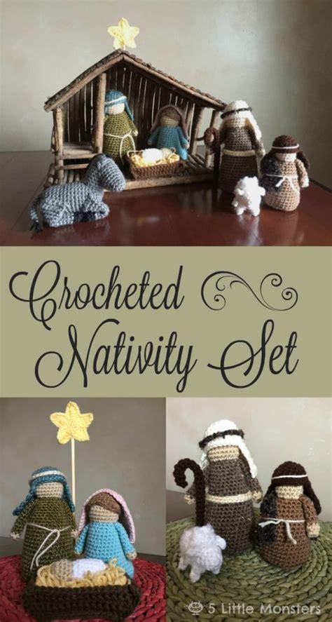 patterns for christmas nativity crocheted nativity set free pattern crochet kingdom