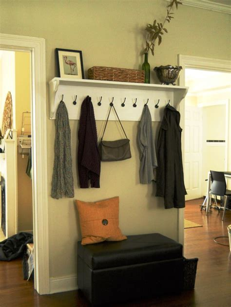 diy entryway diy entry shelf with hooks tutorial my home pinterest