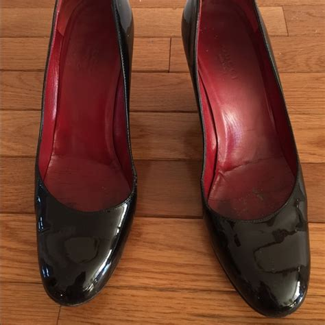 Guci Glossy by 85 Gucci Shoes Gucci Glossy Black Patent Leather