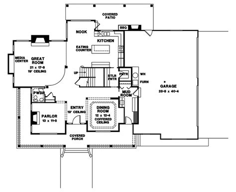 houseplans and more heritage manor southern home plan 024s