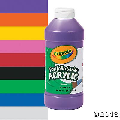 acrylic paint is it washable crayola 174 acrylic paints 16 oz