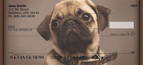 precious pugs pug personal checks pug checks doggiechecks