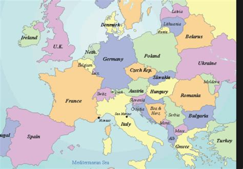 where is austria on the europe map