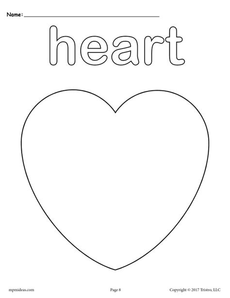 coloring page of a heart shape 12 free shapes coloring pages