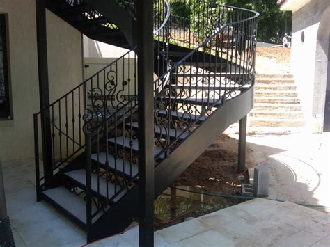 Outdoor Metal Stairs Spiral Staircase Metal Stairs Contemporary Outdoor