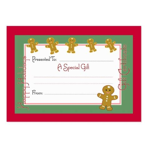 christmas coupon cards business card templates zazzle