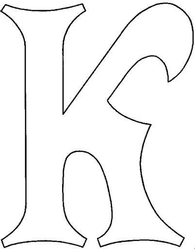 plantillas de letras grandes para imprimir imagui lzk gallery molde de la letra k imagui