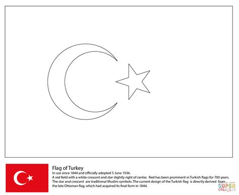 flag of turkey coloring page free printable coloring pages