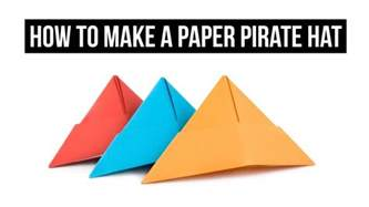 To Make A Paper Hat - how to make a paper pirate hat easy