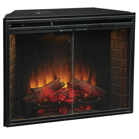 insert fireplace electric electric fireplace log inserts with heaters home improvement