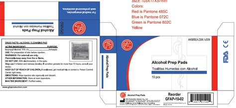 Otc Detox by Cleansing Pad Genuine Aid Llc Isopropyl