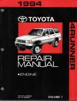 auto repair manual free download 1994 toyota 4runner navigation system 1994 toyota 4runner factory service manual 2 vol set