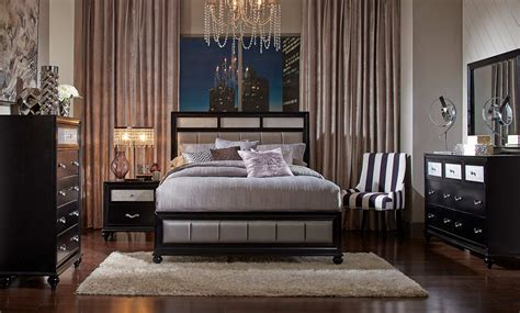 bedroom sets for less coaster barzini upholstered bedroom set black 200891