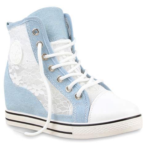 Sneakers Wedges 35 damen sneaker in hellblau 890347 490 stiefelparadies de