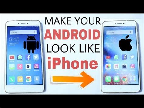 make android look like iphone how to make your android look like iphone without root