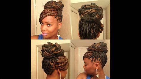 3 easy styles for box braids