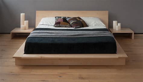 oak platform bed seattles best solid wood platform bed frames wood