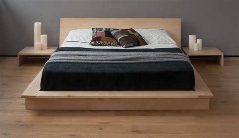 oregon  platform bed solid wood natural bed company